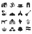 India icons black vector image vector image