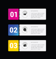 infographic set business in colorful vector image vector image