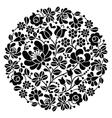 Kalocsai folk art embroidery - black Hungarian vector image vector image