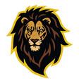 lion head scar logo mascot vector image vector image