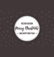 merry christmas dark color background with vector image