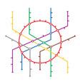 metro map subway map design template vector image vector image