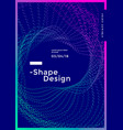 minimal covers design with gradient dotted shape vector image vector image