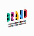 Modern minimal style font