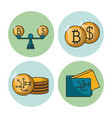 Money and financial technology icons