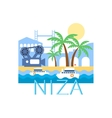 Niza Classic Toristic Scenery vector image