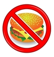 No Cheeseburger Sign Isolated vector image vector image