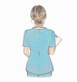 nurse hand drawn artistic female vector image vector image