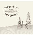 Oil derrick background vector image