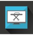 online medical health stretcher design vector image vector image
