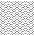 pattern black wavy line seamless background vector image vector image