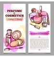 Perfume And Cosmetics Vertical Banners vector image