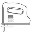 pneumatic gun icon outline vector image vector image