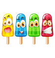 Popsicle with facial expression vector image