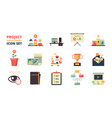 project planning icon business strategy vector image vector image