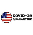quarantine and and social distancing concept stay vector image vector image