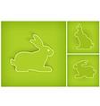 rabbits 10 v vector image vector image