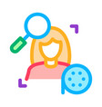 research woman video icon outline vector image vector image