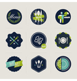 restaurant menu labels set design elements vector image vector image