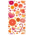 Seamless pattern with vertical band of sweets vector image vector image