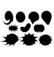 set circles with black ink splashes design element vector image vector image