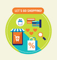 shop easy e - commerce online shopping and bank vector image
