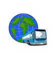 Shuttle coach bus retro vector | Price: 3 Credits (USD $3)