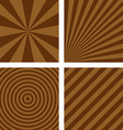 Simple brown striped background set vector image vector image