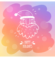 Sketchy Santa Claus on misted window glass with vector image vector image
