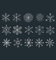 snowflakes drawing collection vector image vector image
