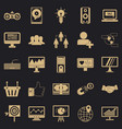 social icons set simple style vector image vector image