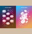 social media concept poster modern promotion web vector image