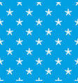 star pattern seamless blue vector image vector image
