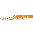 the carburetor will it last text background word vector image vector image
