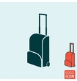 Travel bag icon isolated vector image vector image
