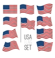 United States flag set vector image vector image