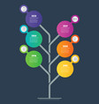 vertical infographics tree development and vector image vector image
