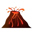 Volcano on a white background vector image