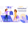 women clothing brand flat poster template vector image vector image