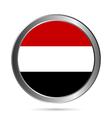Yemen flag button vector image vector image