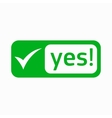 Yes check mark icon simple style vector image vector image