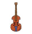 cello musical instrument icon vector image