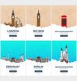 england germany time to travel set of travel vector image
