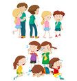 kids in different emotions vector image