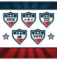 voting patriotic shields vector image