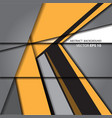 abstract arrow yellow on gray vector image