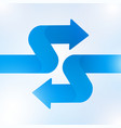 abstract blue arrow sign growth to technology vector image vector image