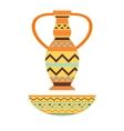 African vase vector image