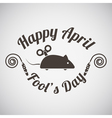 April fools day emblem vector image vector image