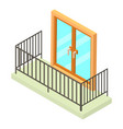 balcony icon isometric 3d style vector image vector image